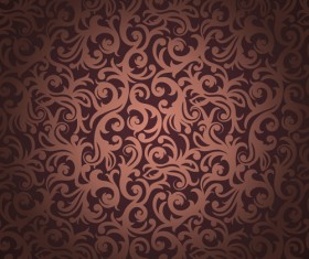brown floral seamless pattern vector 01
