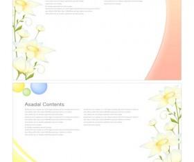 charm spring flower background art vector 04