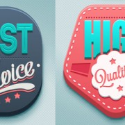 Link to3d high quality labels vector