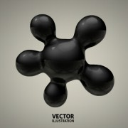 Link to3d molecules spheres illustration vector background 01