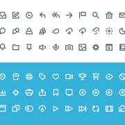 60 kind social icons creative psd