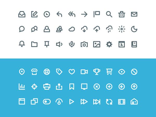 60 kind social icons creative psd