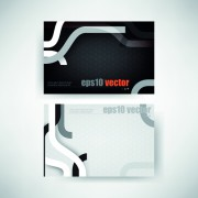 Link toAbstract track business cards vector set 01