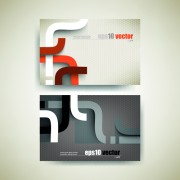 Link toAbstract track business cards vector set 05