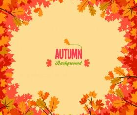 Autumn promo poster sale vector 05