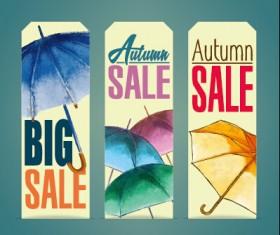 Autumn sale tags design graphics vector 02
