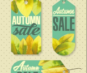 Autumn sale tags design graphics vector 03