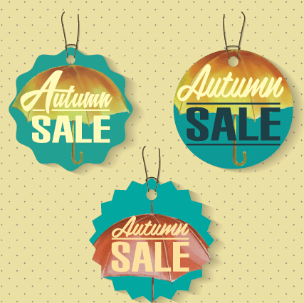 Autumn sale tags design graphics vector 04