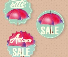 Autumn sale tags design graphics vector 05