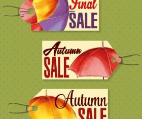 Autumn sale tags design graphics vector 06
