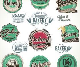 Bakery label retro style vector 02