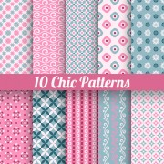Link toBeautiful decorative pattern seamless vector set 01