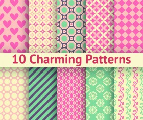 Beautiful decorative pattern seamless vector set 02