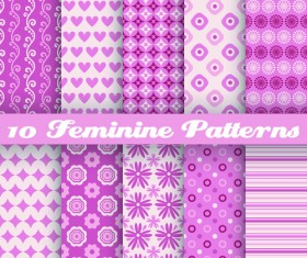 Beautiful decorative pattern seamless vector set 04