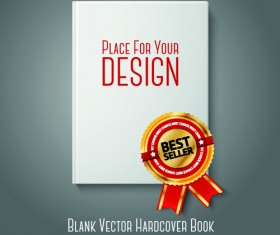 Blank white book objects vector