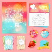 Link toBlurred wedding invitation cards vector elements 01