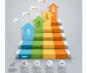 Business Infographic creative design 2045