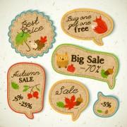 Link toCardboard autumn sale labels vector 02