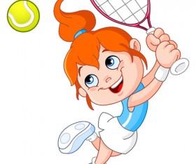 Cartoon little girl vector material 02