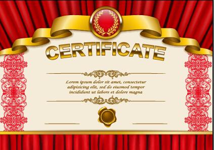Vector certificate template exquisite vector 01 free download