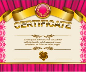 Vector certificate template exquisite vector 12