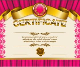 Vector certificate template exquisite vector 12