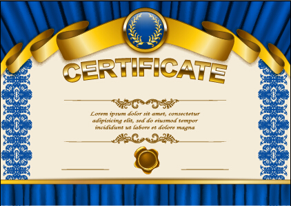Vector certificate template exquisite vector 07 free download