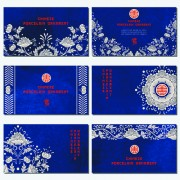 Link toChinese porcelain ornament cards vector 01