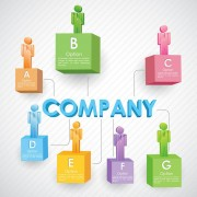 Link toColored 3d people company template vector