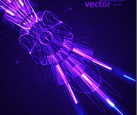 Colored rays abstract vector illustration 04