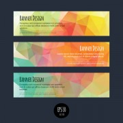 Link toColorful geometric shapes vector banners 01