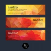 Link toColorful geometric shapes vector banners 03