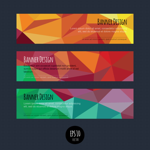 Colorful geometric shapes vector banners 04 over millions colorful geometric shapes vector banners 04 toneelgroepblik