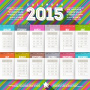 Creative calendar 2015 vector design set 01