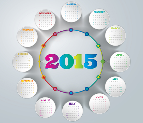 Creative calendar 2015 vector design set 02 over millions creative calendar 2015 vector design set 02 toneelgroepblik