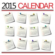 Creative calendar 2015 vector design set 03