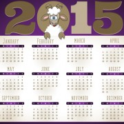 Creative calendar 2015 vector design set 04