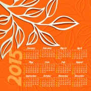 Creative calendar 2015 vector design set 06