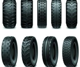 Creative car tires vector design 01