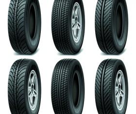 Creative car tires vector design 02