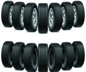 Creative car tires vector design 04