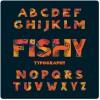 Creative floral alphabet font vector