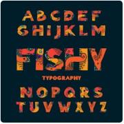 Link toCreative floral alphabet font vector