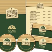 Link toCreative menu with list and cards vector 01