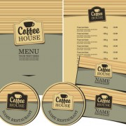 Link toCreative menu with list and cards vector 02