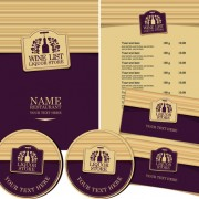 Link toCreative menu with list and cards vector 04