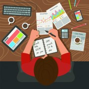 Link toCreative office working design vector set 01