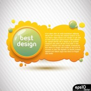 Link toCute yellow banner with button vector