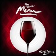 Link toDark red wine menu background vector 02