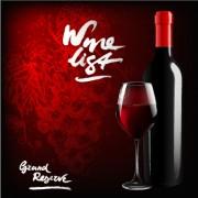 Link toDark red wine menu background vector 04